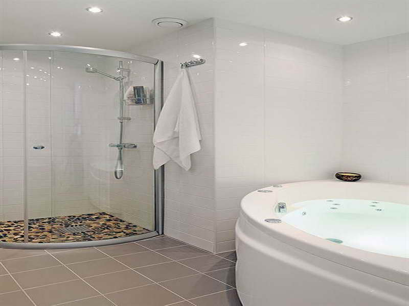 swedish bathroom design with round bath tub and bath towel also rh bjuvsgolvkakel se